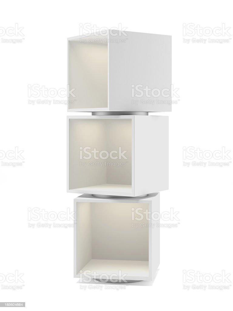 White showcase royalty-free stock photo