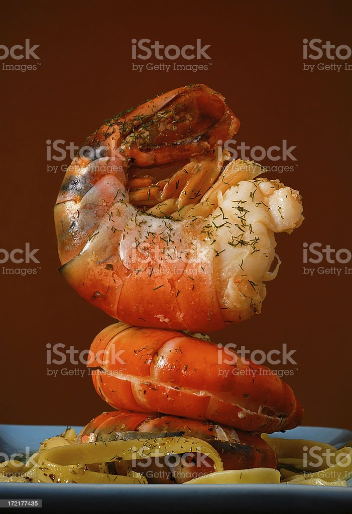 white shrimp royalty-free stock photo