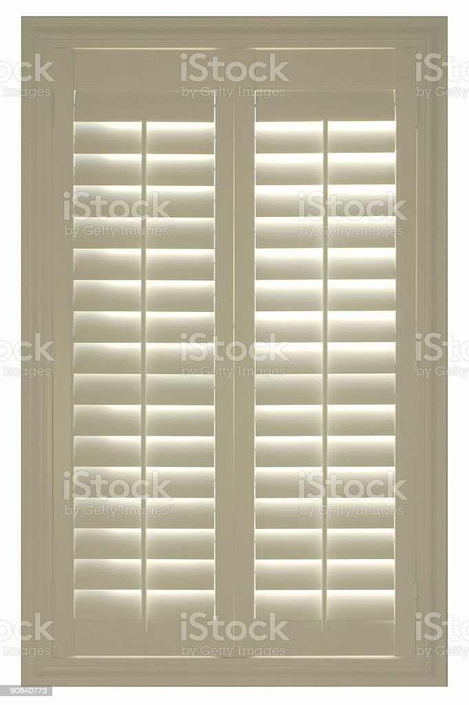 white shutters royalty-free stock photo