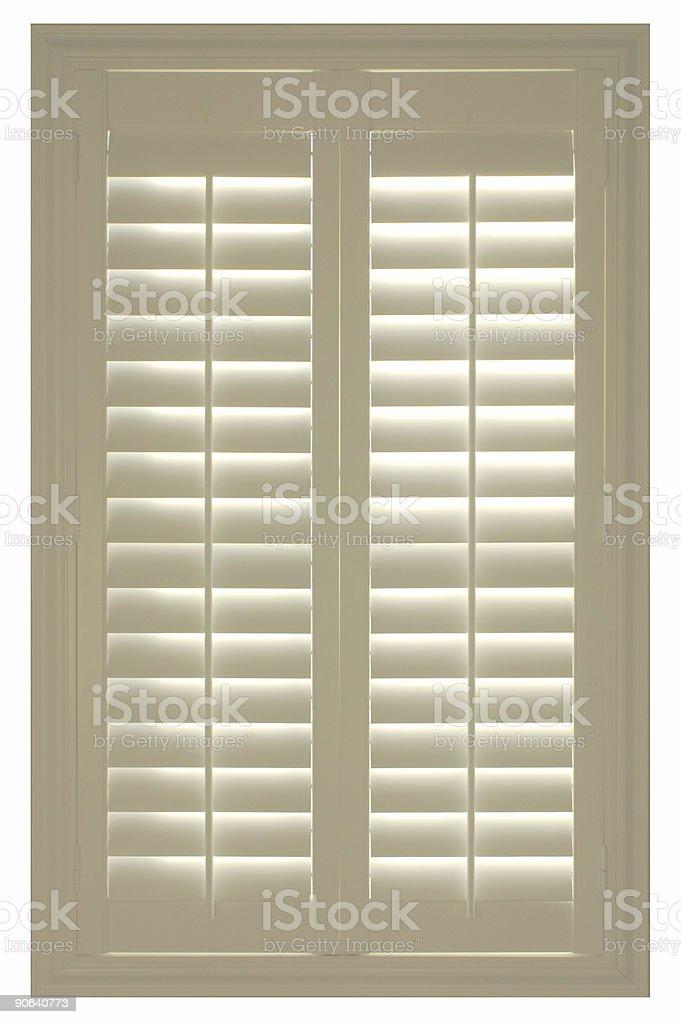 white shutters stock photo