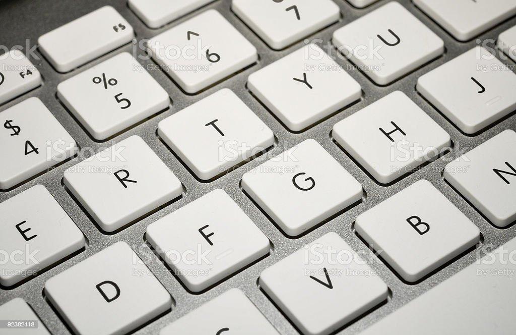 White & Silver Keyboard royalty-free stock photo