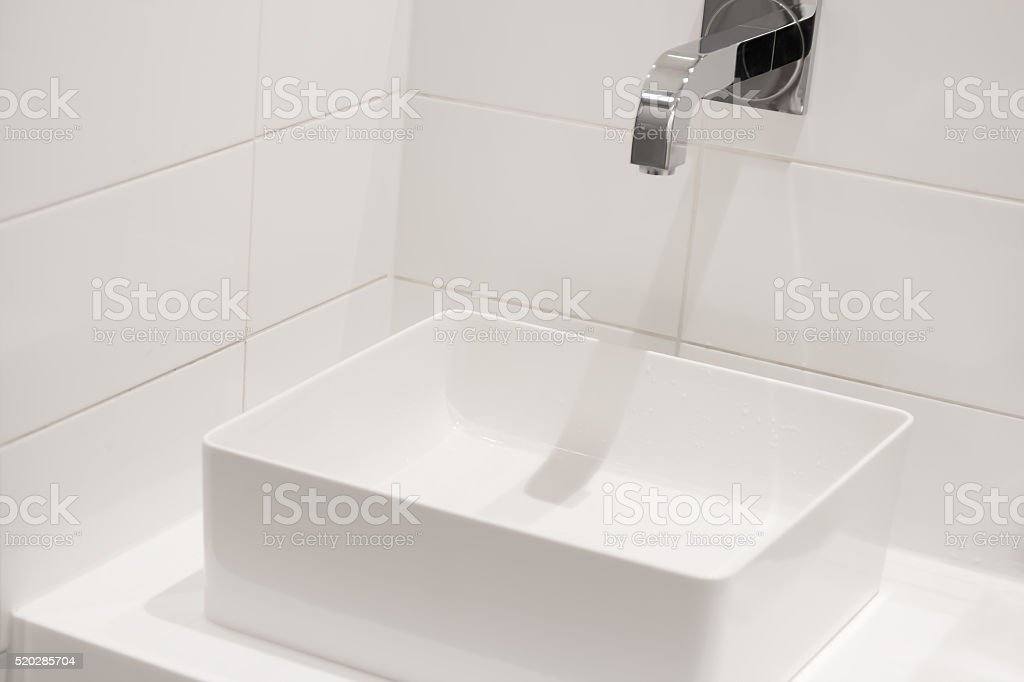 White sink stock photo