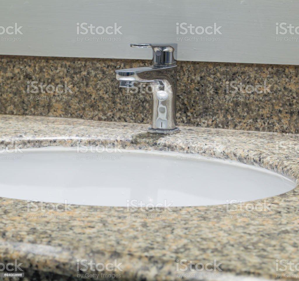 White sinks stock photo