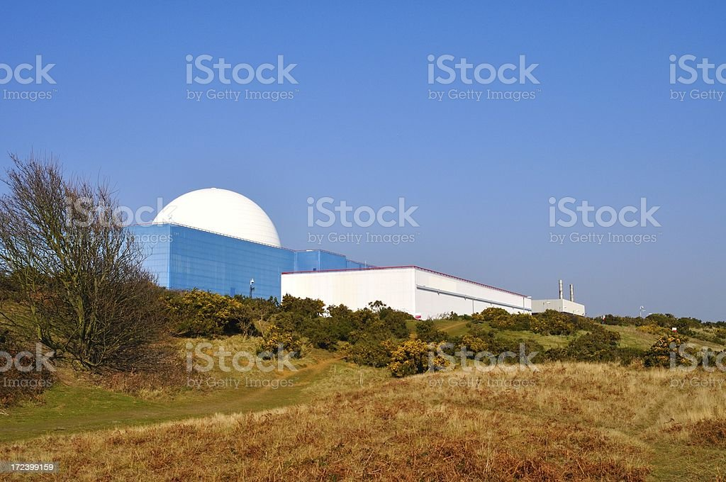 White Sizewell dome royalty-free stock photo
