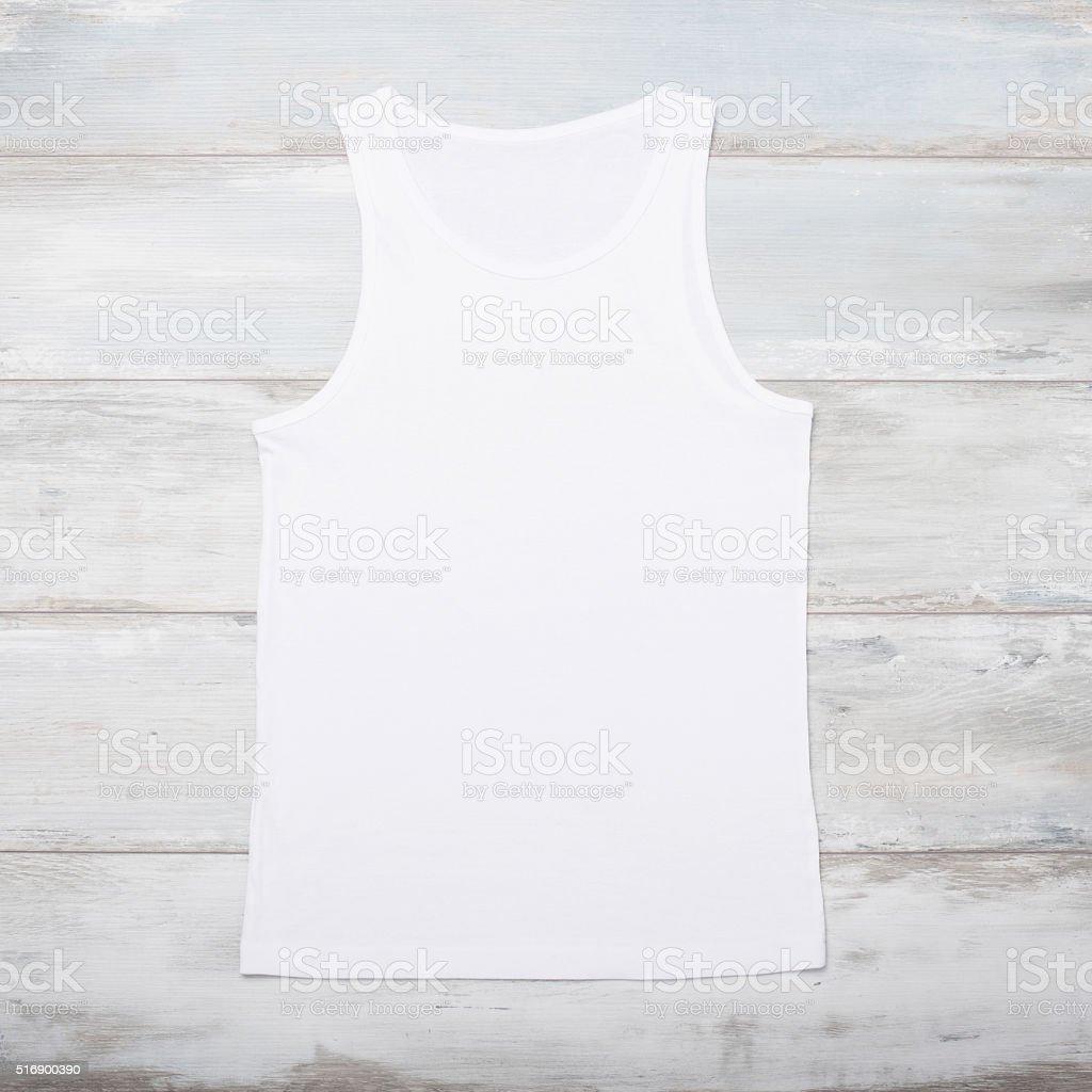 White sleeveless shirt stock photo