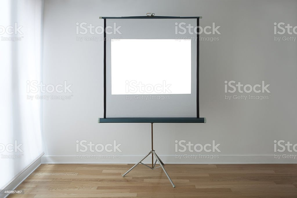 White Slide on a Projection Screen stock photo