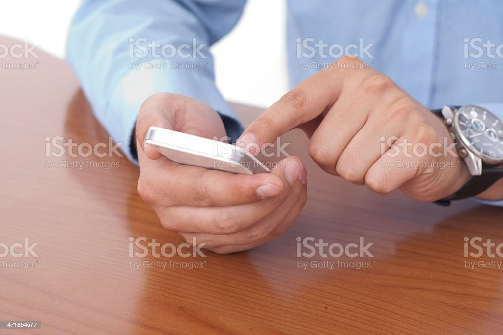 White Smart Phone royalty-free stock photo