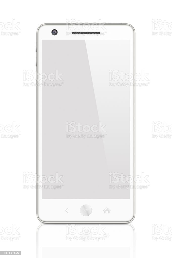 White Smartphone with clipping path royalty-free stock photo