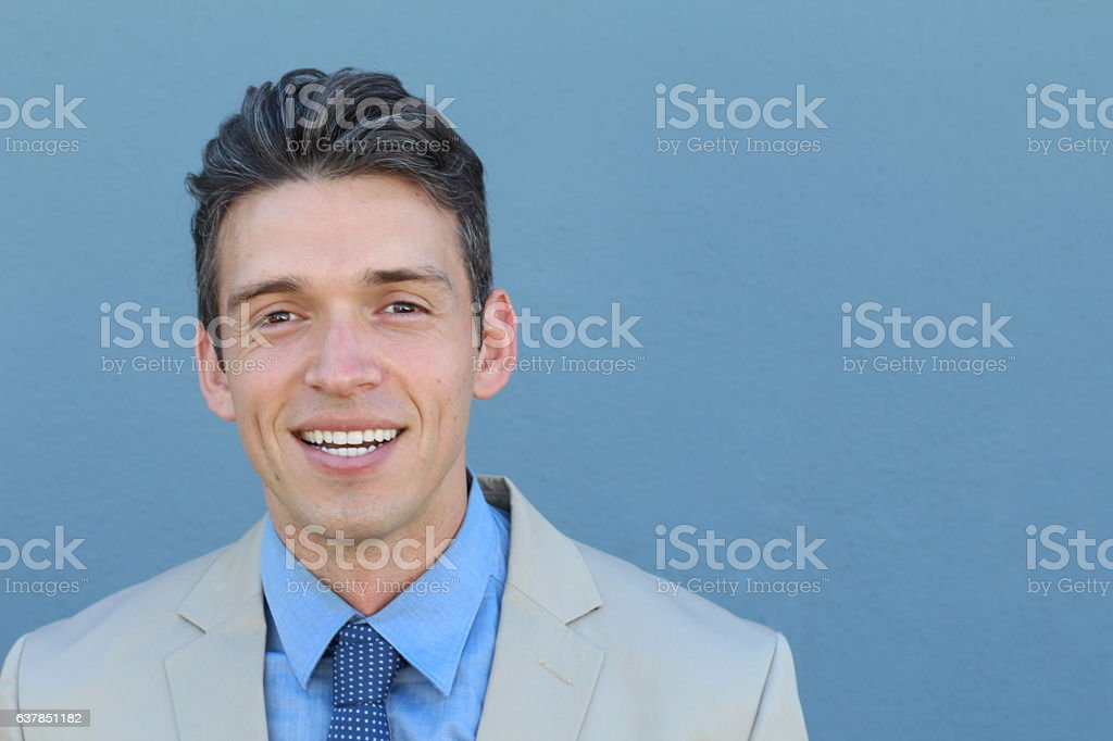 white smile perfect straight teeth dental patient stock photo