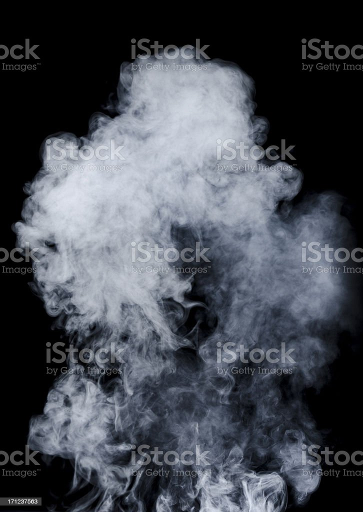 White smoke on black background royalty-free stock photo