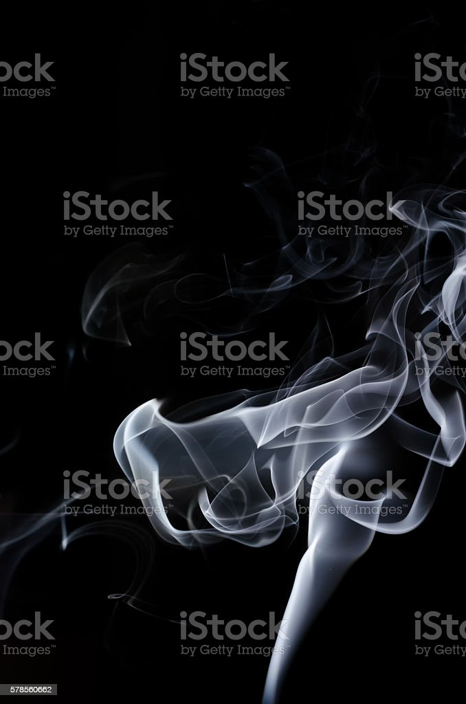 white smoke on black background, white smoke on black background, smoke background,white ink background,smoke background ,beautiful white smoke,B&W, Movement of smoke stock photo