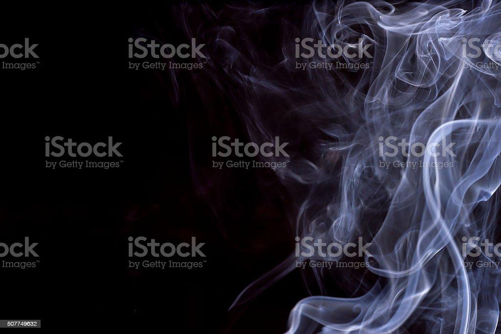 White smoke on Dark background stock photo