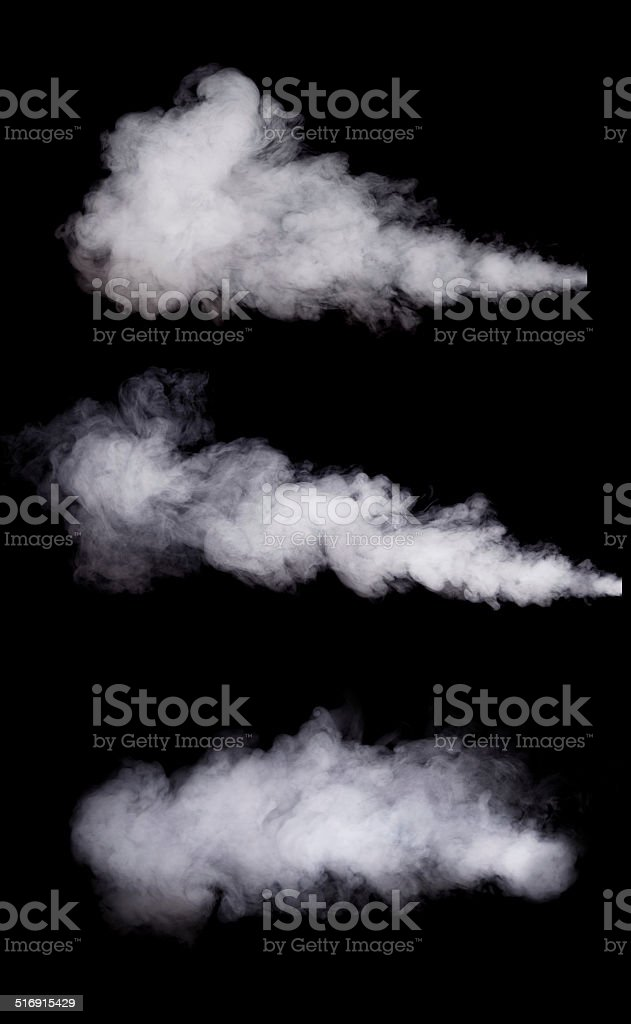 White smoke stock photo