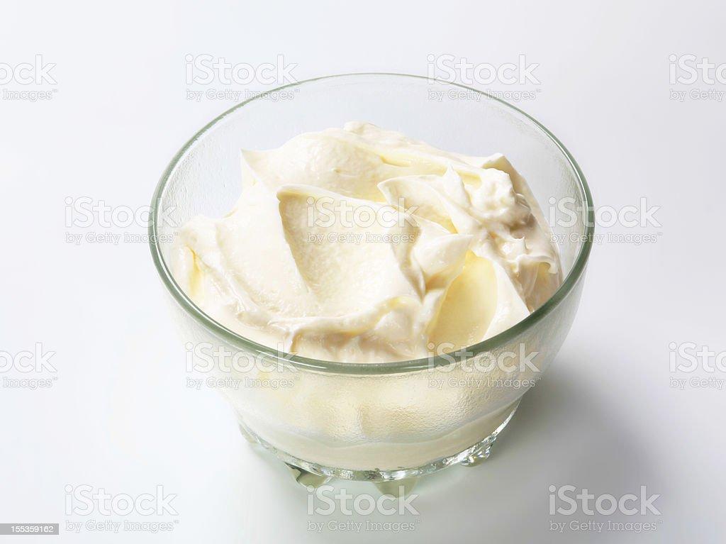White smooth cream royalty-free stock photo