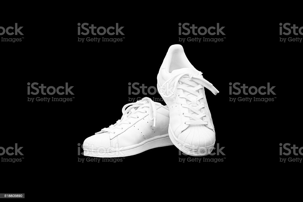 White Sneakers stock photo