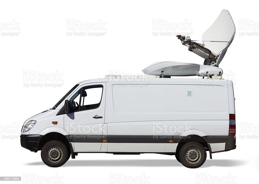 White SNG van isolated stock photo