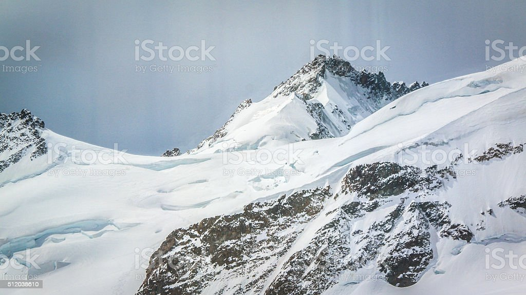 White snow mountain, Jungfraujoch stock photo