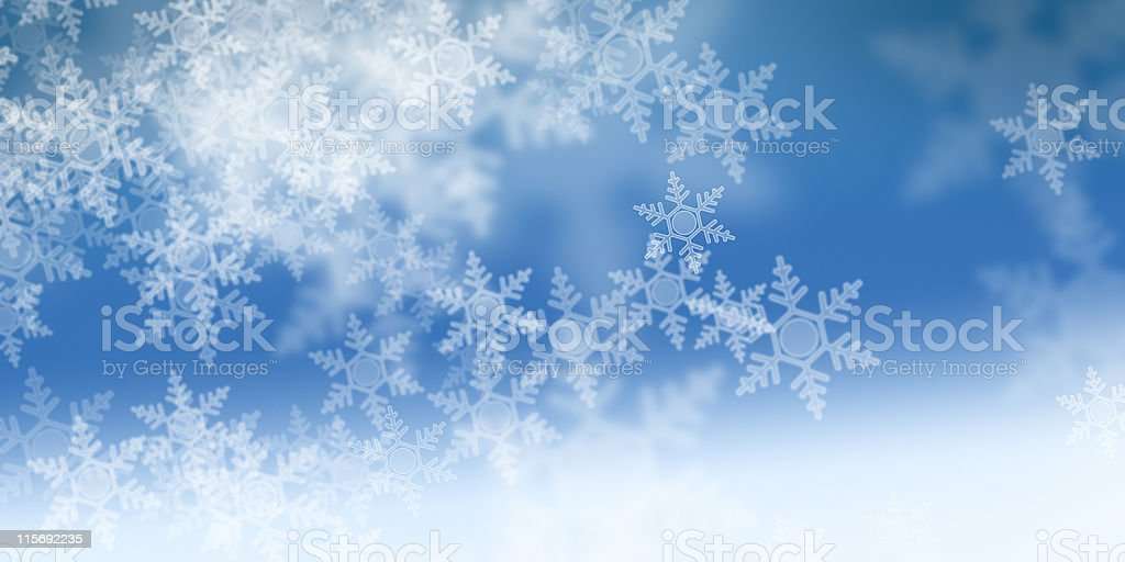 white snowflakes royalty-free stock photo