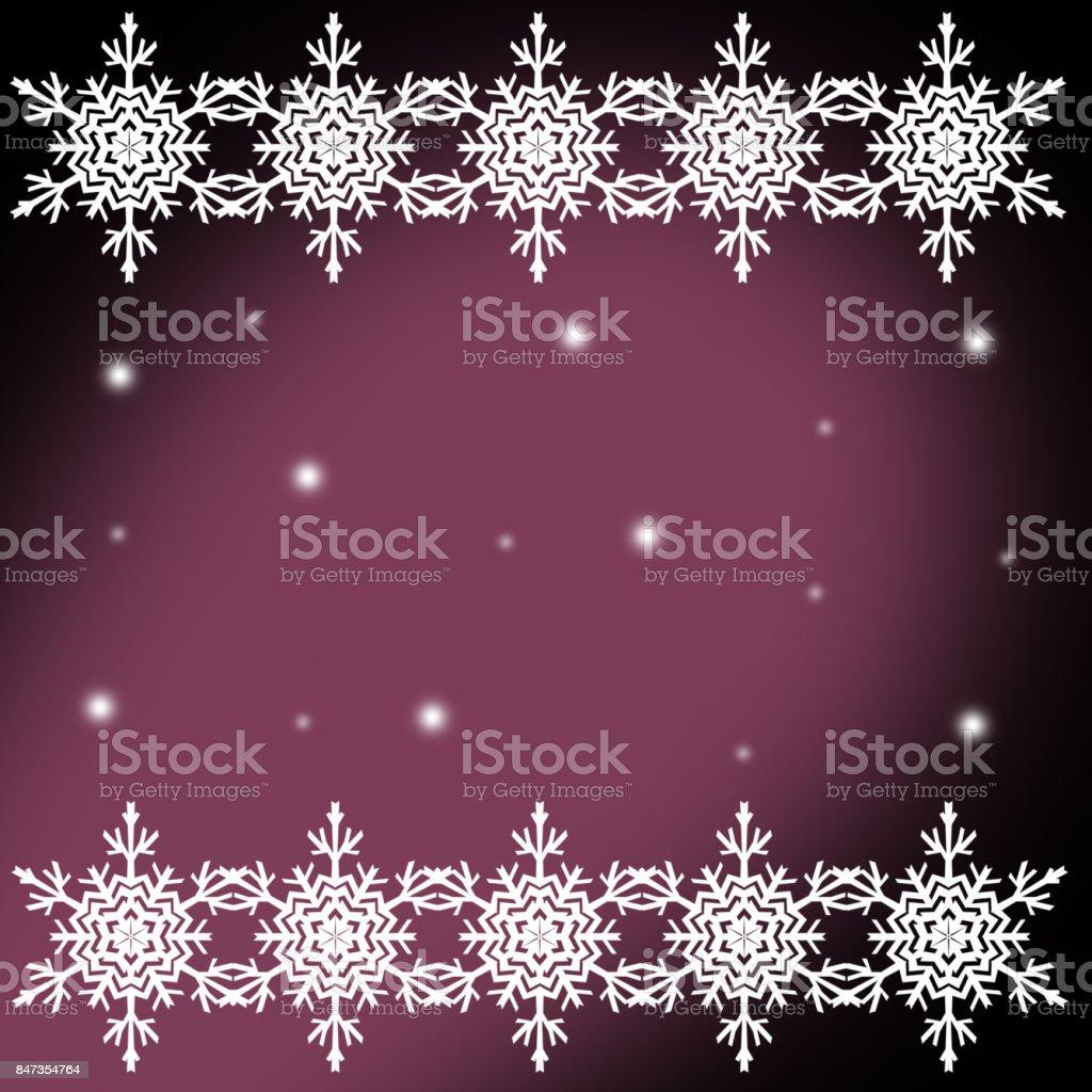 White  snowflakes,christmas pattern on the purple  background stock photo