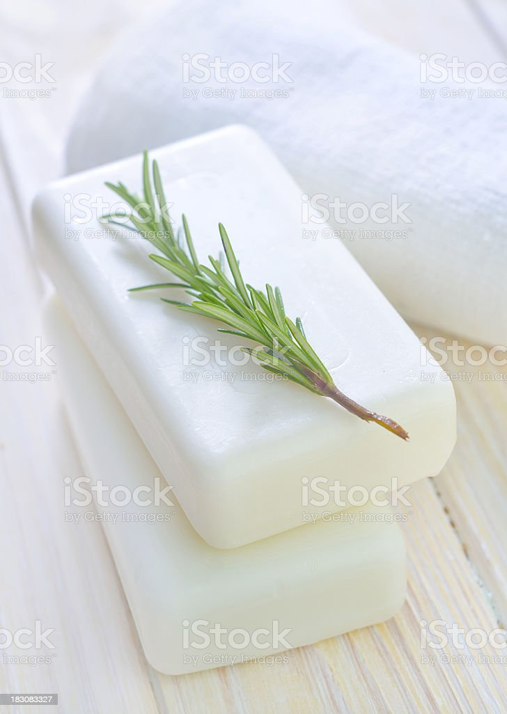 White soap royalty-free stock photo