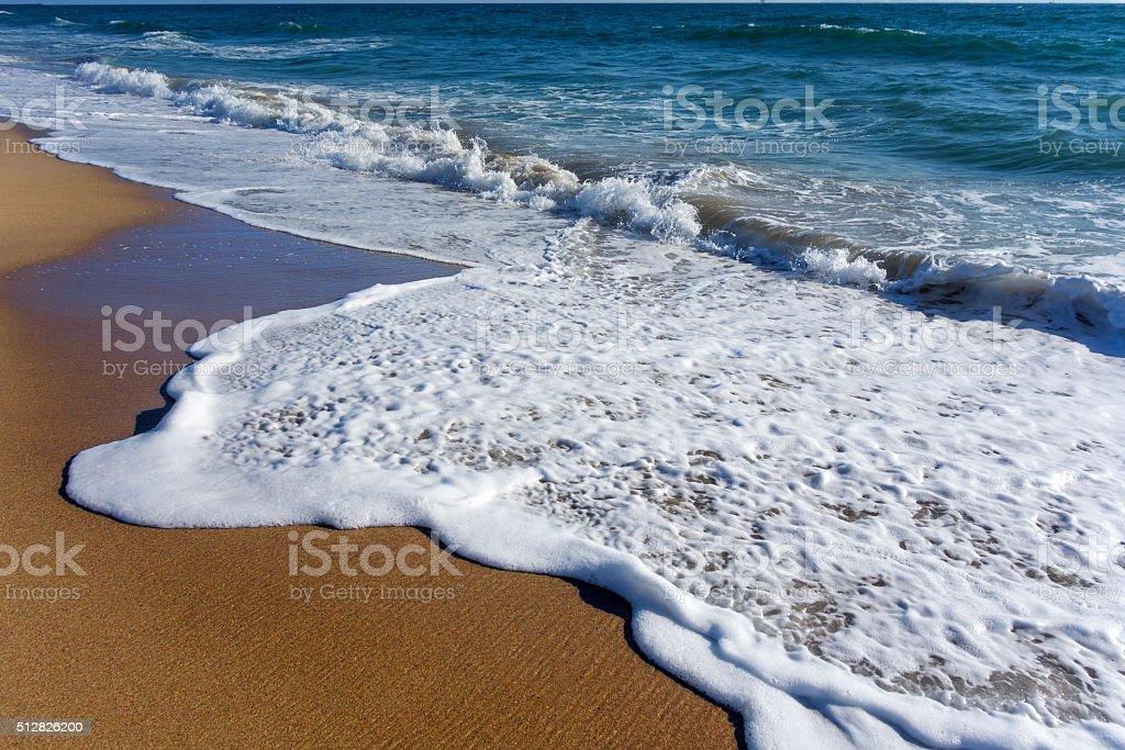 White Soapy Sea Suds stock photo