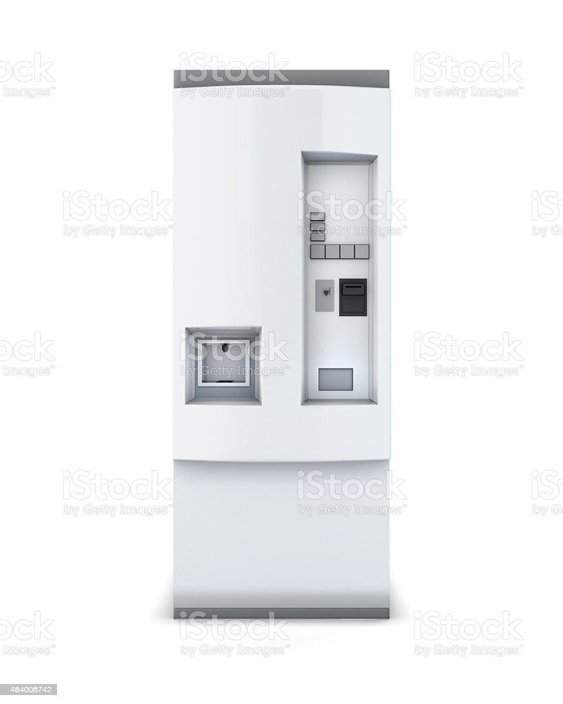 White soda vending machine stock photo