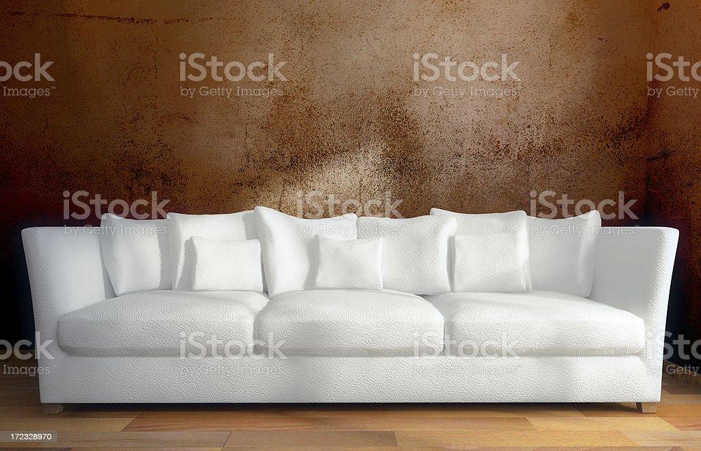 white sofa royalty-free stock photo