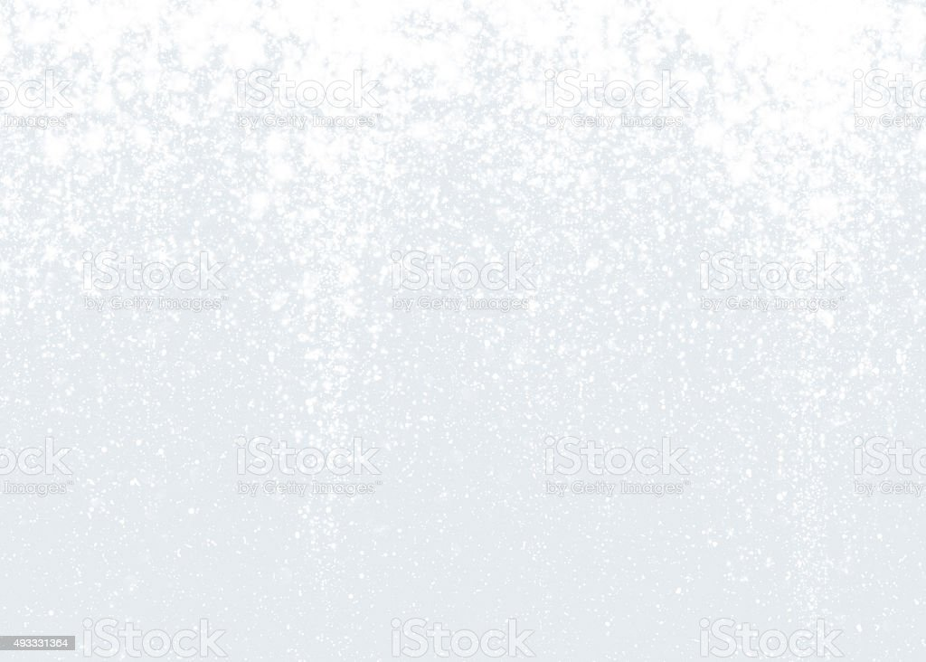 White sparkling texture of snowflakes stock photo