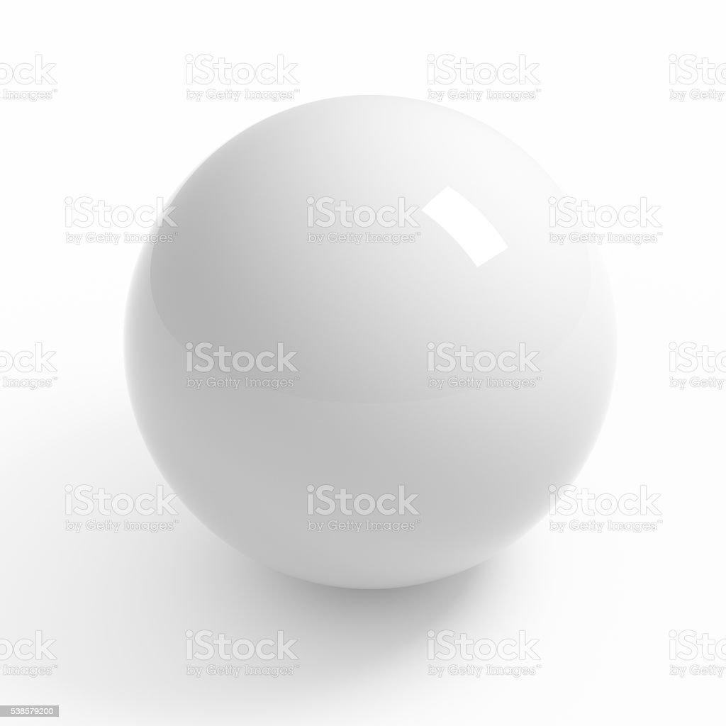 White sphere studio render stock photo