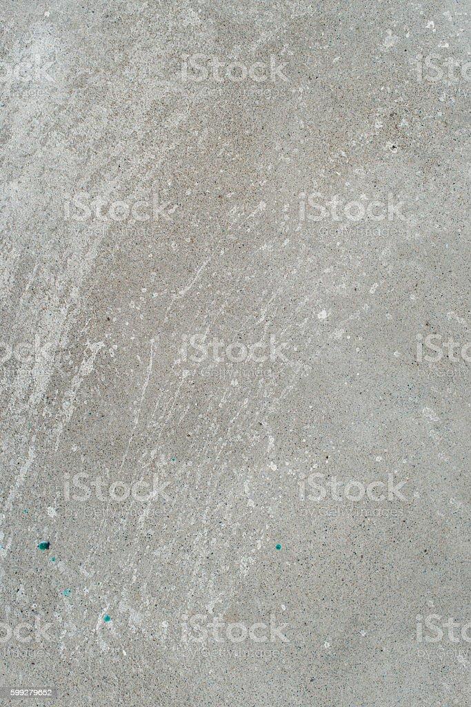 White splash on gray background concrete wall, messy, splotchy, surface stock photo
