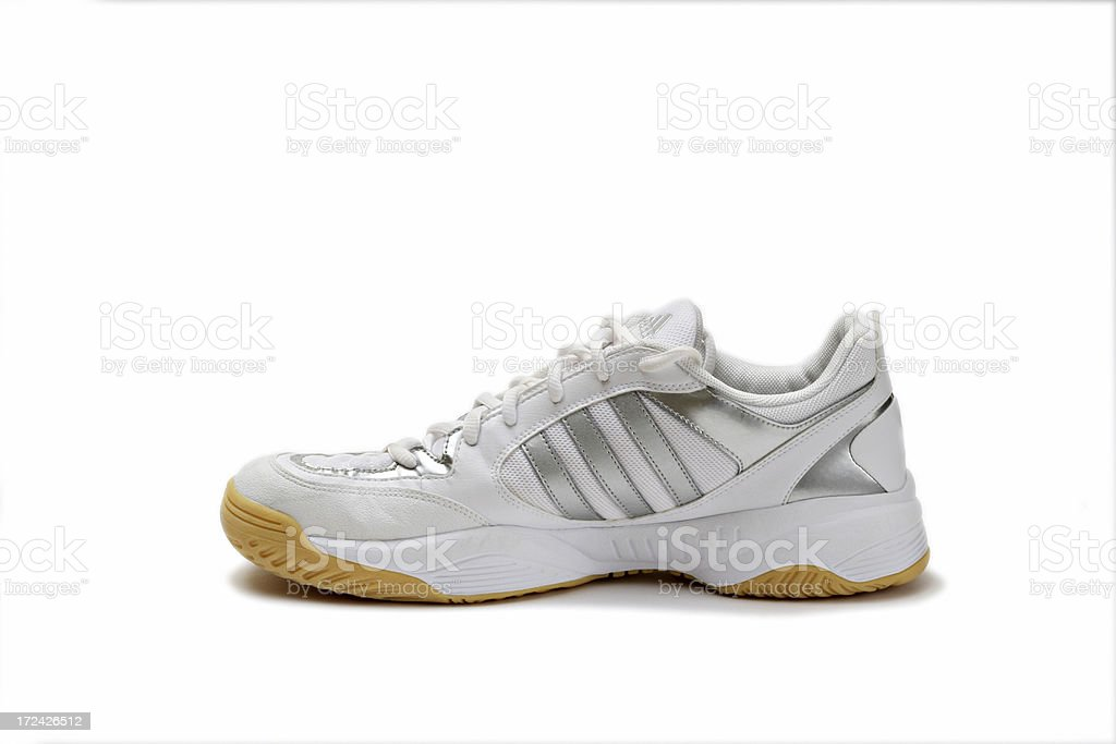 white sport shoes royalty-free stock photo