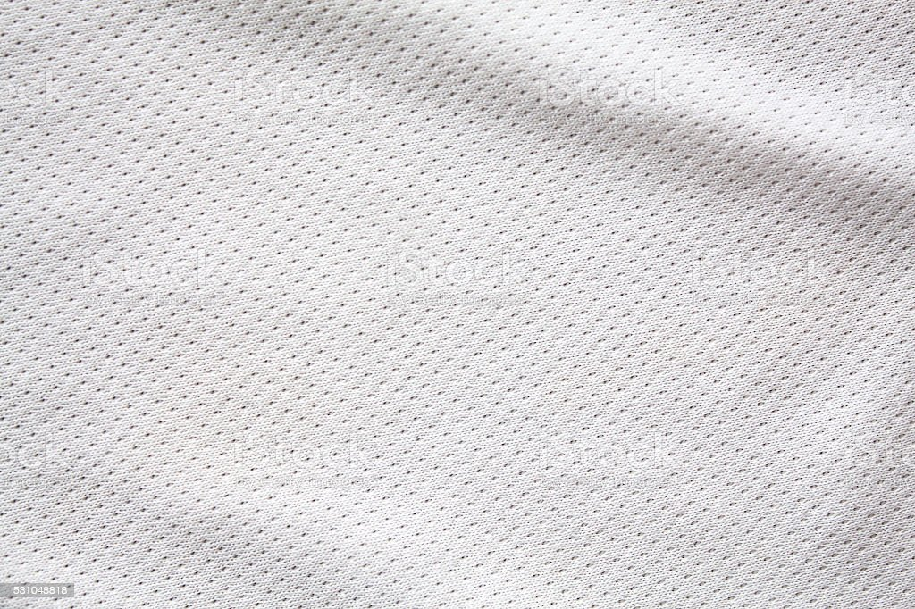 White sports clothing fabric jersey stock photo
