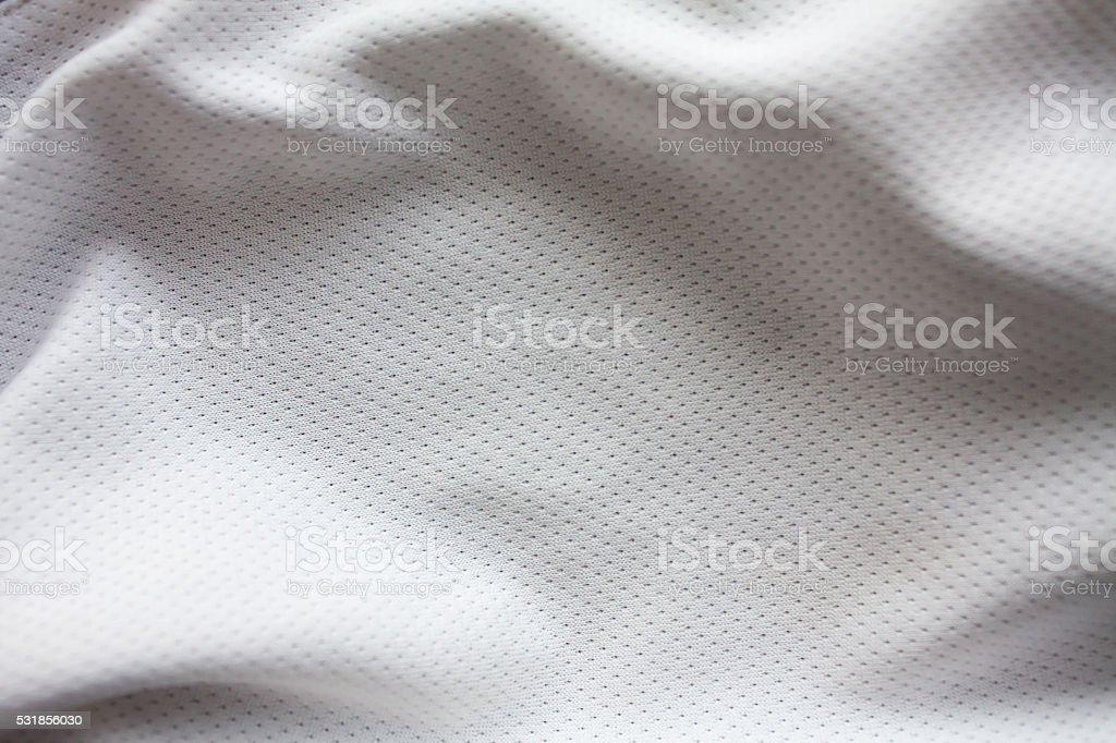 White sports clothing fabric jersey stock photo