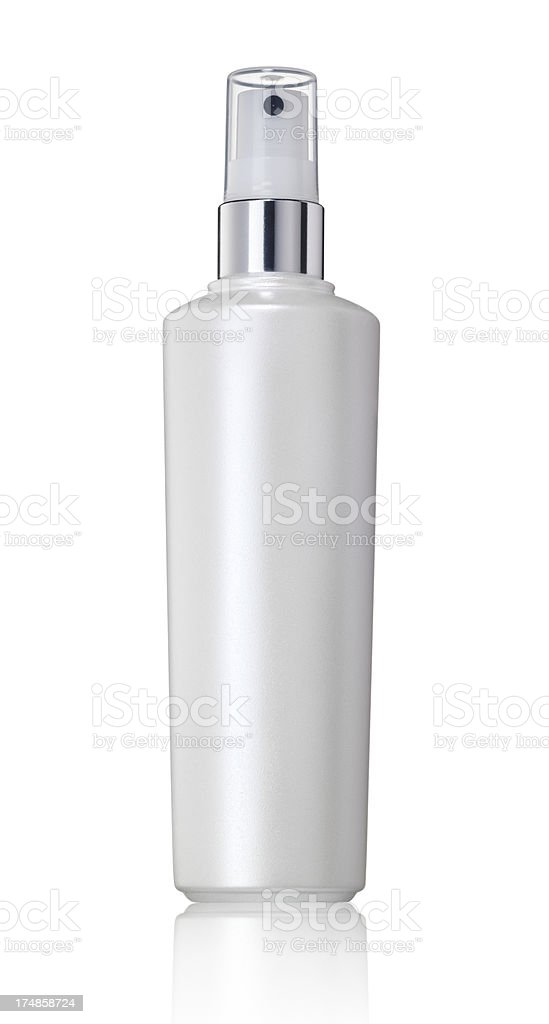 White spray bottle stock photo