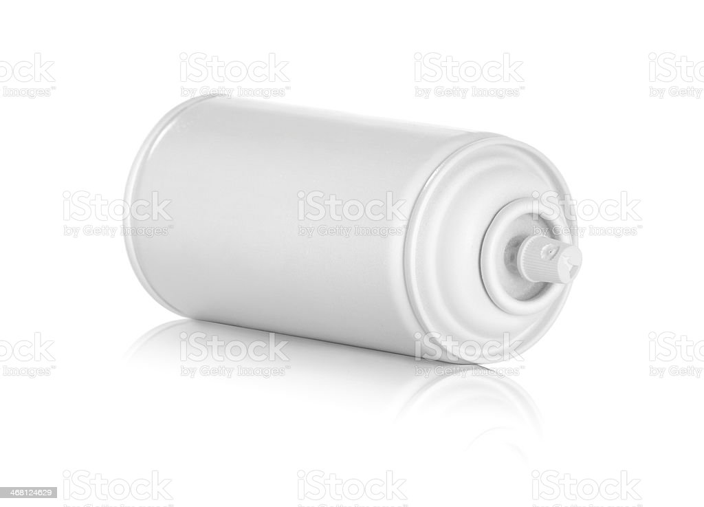 white spray can royalty-free stock photo
