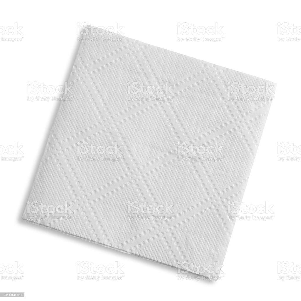 White square bar napkin stock photo