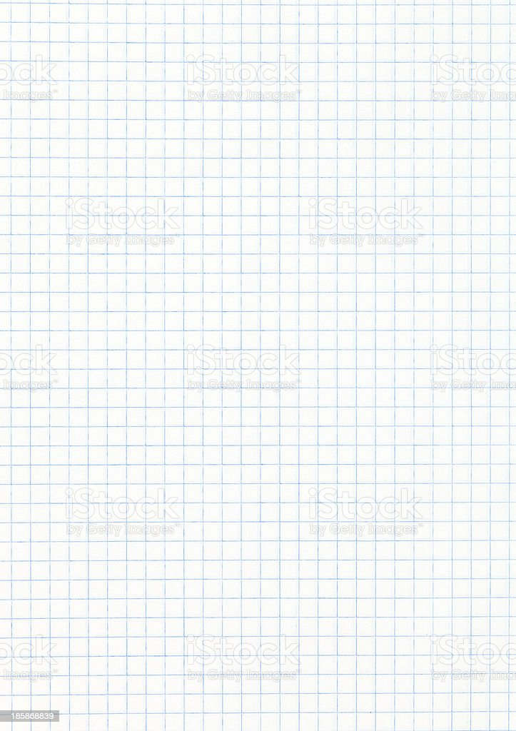 white squared paper page stock photo