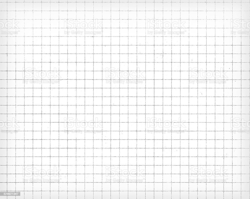 White squared paper sheet texture, background stock photo