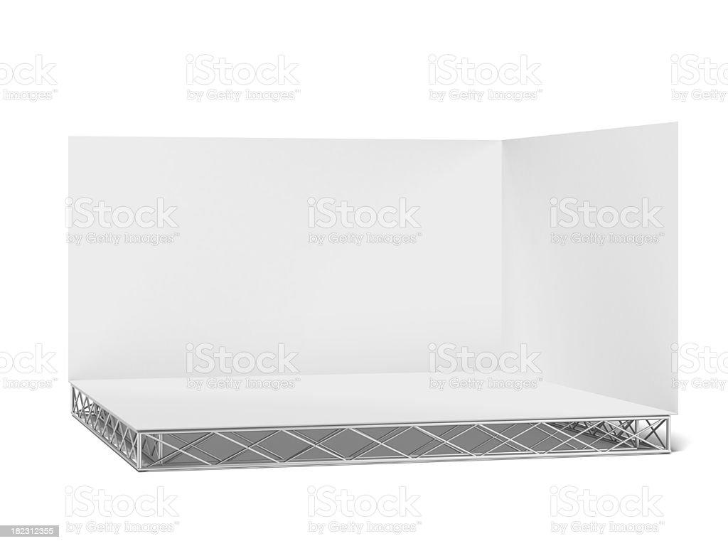 white stage royalty-free stock photo
