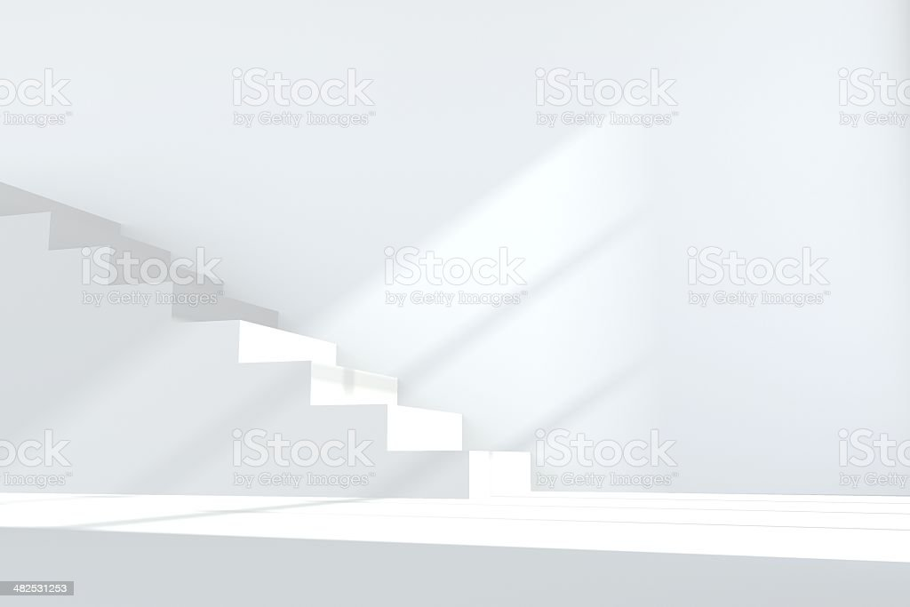 White staircase stock photo