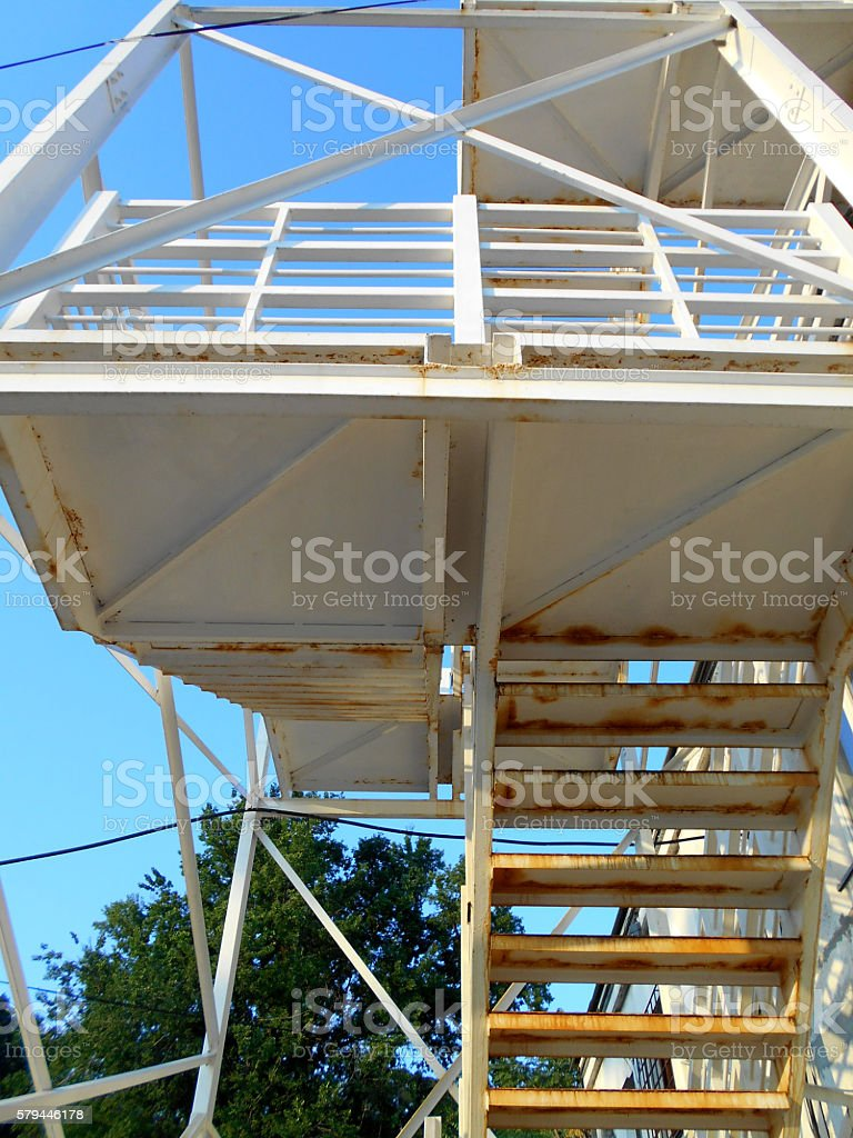 White Staircase - view from below stock photo
