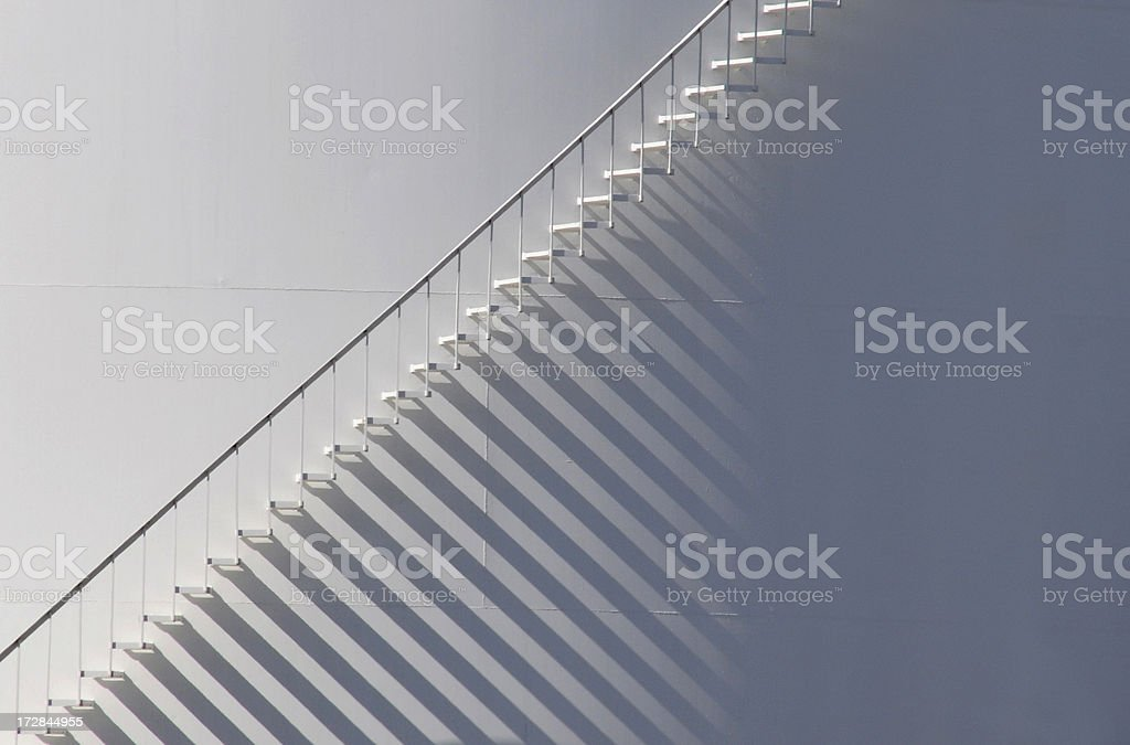 White Staircase with Shadow Background royalty-free stock photo