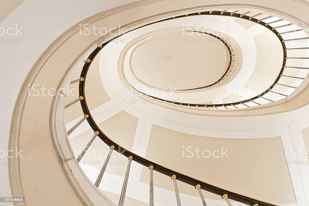 White stairs. royalty-free stock photo