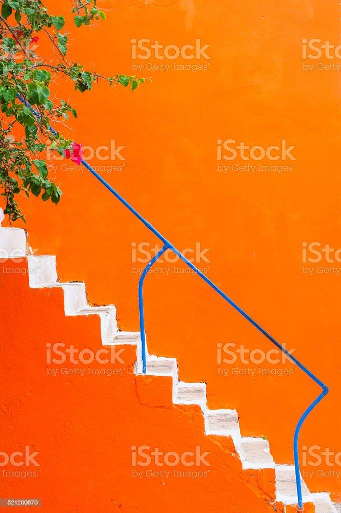 White stairs stock photo