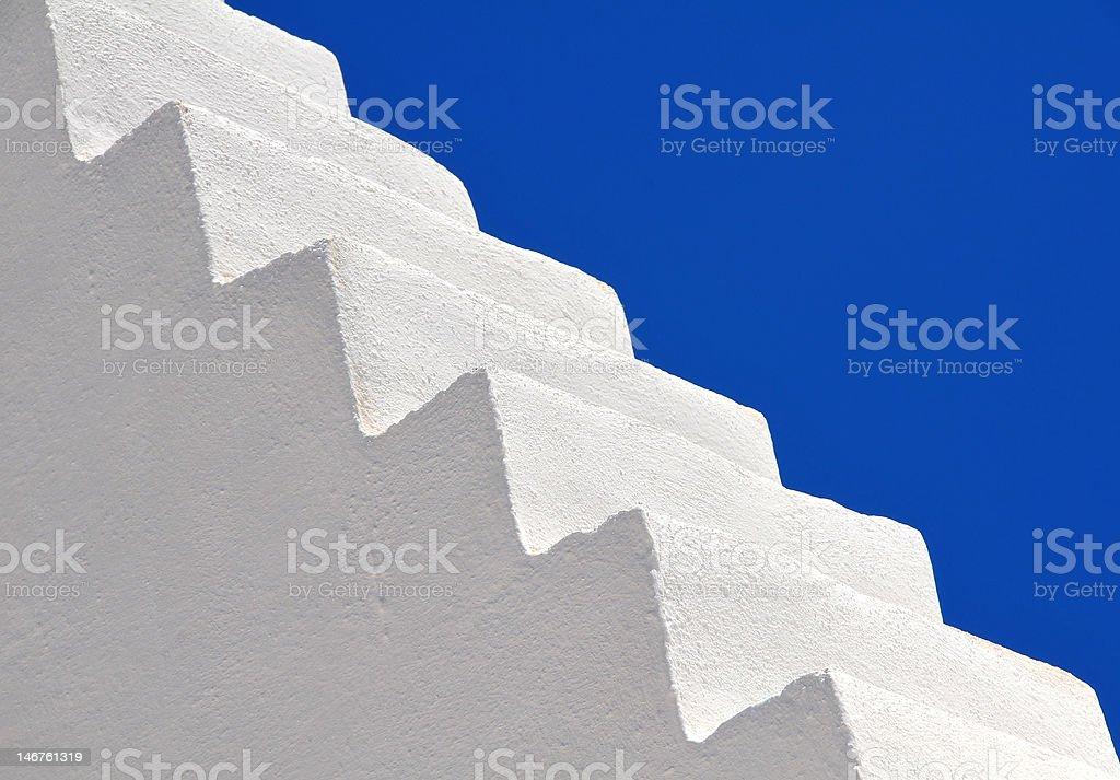 white stairs, Santorini island, Greece royalty-free stock photo