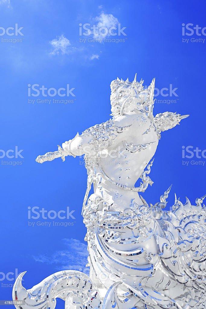 white statue von Thai-Stil Lizenzfreies stock-foto