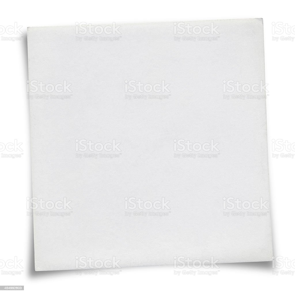 White Sticky Note royalty-free stock photo