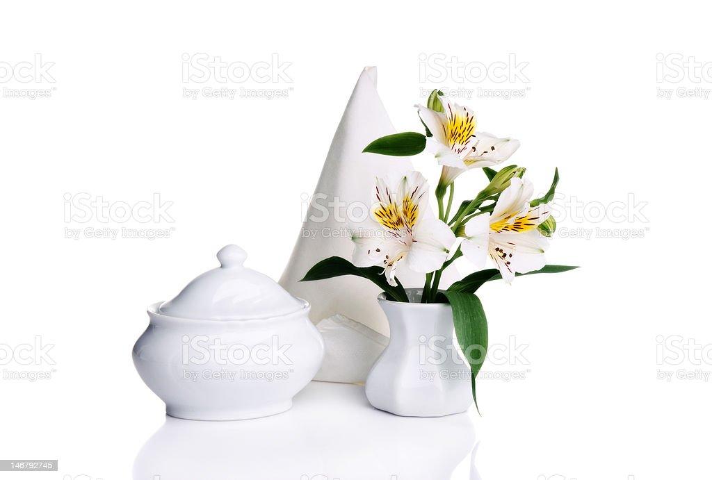 White still life royalty-free stock photo