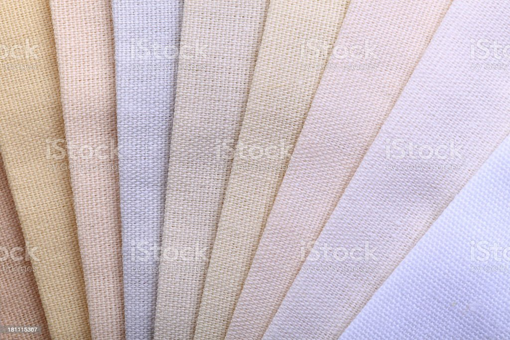 White Stitched Fabric Swatches royalty-free stock photo