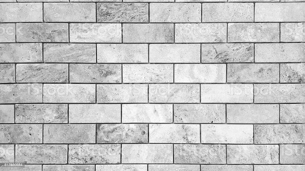White stone brick wall stock photo